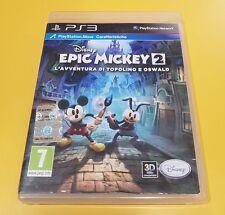 Disney Epic Mickey 2 L'Avventura Di Topolino e Oswald GIOCO PS3 VERSIONE ITA