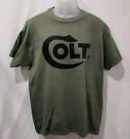 Colt Black Logo T-Shirt 2nd Amendment Pro Gun Brand Tee Firearms Rifle Pistol
