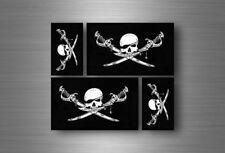4x adesivi adesivo sticker bandiera vinyl tuning pirata teschio pirati r2