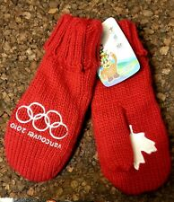 """Vancouver 2010 Olympic Mittens Canada Red Brand New """"with Tags"""" small/medium"""
