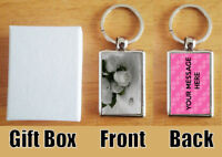 Personalised (WITH YOUR MESSAGE) Wedding/Anniversary Metal Keyring + Gift Box