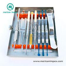 New Dental Micro Oral Surgery Instruments Kit 10 Pcs Scalpel Handle Rotatable