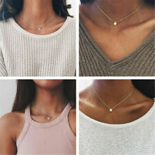 Tiny Small Five-pointed David Star Necklace Cute Sideways Necklaces Jewelry Gift