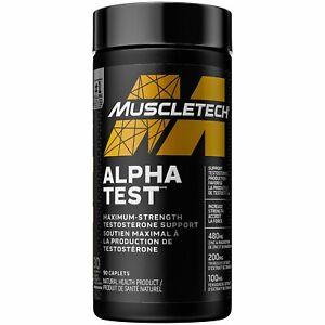 NEW 💥 MUSCLETECH  Alpha Test 120 Caps Testosterone Booster  💥 VERIFING CODE 💥