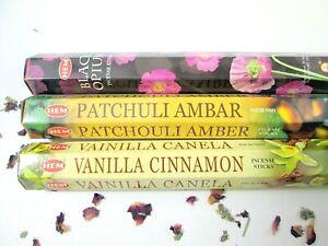 Räucherstäbchen indisch*HEM*60 St.*Patchouli Amber*Vanilla Cinnamon*Opium*neu