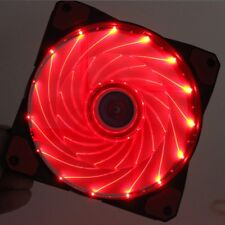 Needcool Gi 120 mm 12 cm Rojo 32 Luces LED Ultra Silent Case Fan del chasis - 1200 Rpm