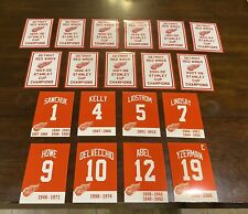 Detroit Red Wings Replica Stanley Cup & Retired Numbers Decal Banners Man Cave