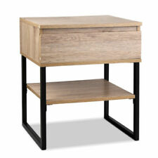 Artiss FURNIGINDBSIDE02WD Bedside Table with Metal Legs