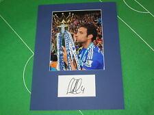 CESC FABREGAS firmato Chelsea FC 2014/15 PREMIER LEAGUE CHAMPIONS TROPHY MOUNT