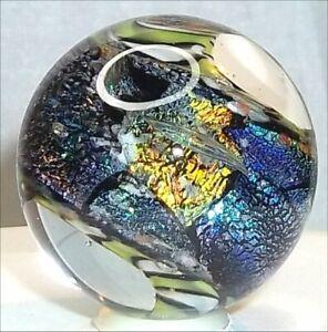 "Randel Art Glass MARBLE TWISTIE MIXED DCHROIC RIBBON Twist 1-1/8"" RAG HandMade"