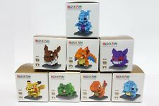 Pokemon Whole Set of 8 with Boxes LOZ BLOCK Micro Mini Nano Building Lego Blocks