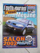 L'Auto-Journal 2002 No 604 Renault Megane Focus Rs Jaguar Xkr Vel Satis BMW 735i