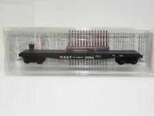 N Scale ATLAS MK&T OF TEXAS 50' FLAT CAR, FISHBELLY SIDES 3554; #45240 NIB