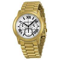 Michael Kors Womens Quartz Watch Black Dial Chronograph Stainless Steel MK5916