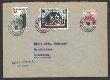 Switzerland 1940 1st Kanonier Military stamps on (2) on cover