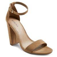 NEW! Merona Lulu High Block Heel Sandal Pump Heels, Taupe (tan) - Various Sizes