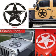 50 x 50cm Jeep Car Hood Side Door Vinyl Decal Black Star DIY Decoration Sticker