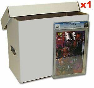 Cardboard Comic Storage Box with Lid - Regular Holds up to 200 Comics