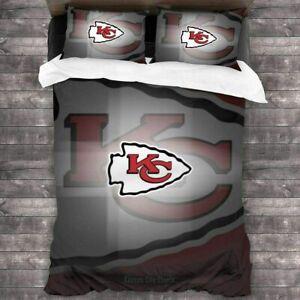 Kansas City Chiefs 3PCS Bedding Set Duvet Cover Pillowcases Quilt Cover US Size