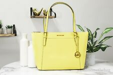 Michael Kors Ciara Saffiano Leather Sunshine Large Top Zip Tote Bag Handbag