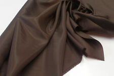 CHOCOLATE  ANTI STATIC POLYESTER DRESS LINING FABRIC  PL07 : $3.99 PER MTR