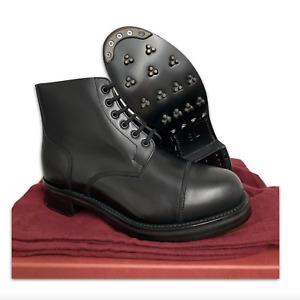 BLACK LEATHER AMMO AMMUNITION DRESS BOOTS - Size: 8 & 12 , British Army , NEW