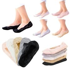 One Pair Womens Ladies Skin Shoe Invisible Thin Lace Socks Sheer