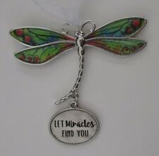 x Let miracles find you DELIGHTFUL DRAGONFLY ORNAMENT CAR CHARM Ganz