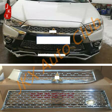 Chrome Front Upper+Lower Grille For Mitsubishi Outlander Sport ASX RVR 2016-2019