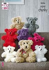 Not the finished toys TUFTY  Teddy  CROCHET PATTERN KINGCOLE 9096