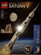 LEGO IDEAS 21309 NASA Apollo Saturn V BRAND NEW FACTORY SEALED 1969 Pieces