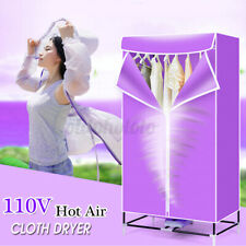 US 110V Electric Clothes Dryer Electric Heater Cloth Drying Machine Wardrobe Kit
