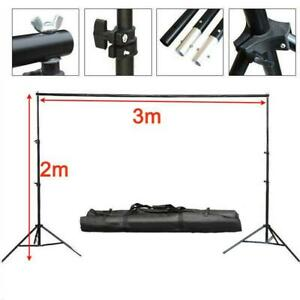 10Ft 2*3m Adjustable Photography Background Support Stand Backdrop 4Crossbar Kit