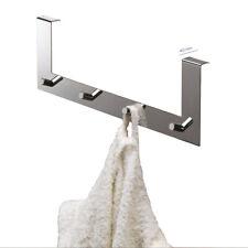 Appendiabiti multiplo in acciaio inox sopra porta gancio bagno/camera cromato