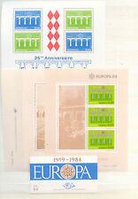 Europa, Cept, Fernmeldewesen - LOT 69 Werte, 1 MH, 4 Bl. ** 1984