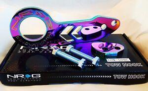 NRG Rear Tow Hook Kit FOR Honda & Acura Universal JDM Style (Neo Chrome)