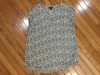 Hilary Radley Women's V Neck Tank Sleeveless Blouse Top Size S