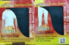 MENS THERMAL LONG JOHN UNDERWEAR & SHORT SLEEVE T SHIRT SET J595 GREY XL