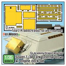 DEF 1/35 T-34 Tank External Stove w/Engine Deck Slit for Academy/AFV Club/Dragon