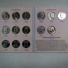 1971-1978  EISENHOWER DOLLAR COLLECTIONS, 14 UNC.Vintage Coins Total, P/D Mints