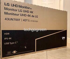 """LG 43UN700T-B 43"""" Monitor 4K UHD 3840x2160 IPS USB-C HDR 10 - NEW!"""