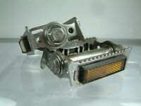 Vintage - Chromed Union Rat Trap Pedals + Reflectors from Raleigh Road Bike
