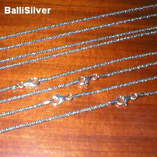 4 St. Silver OXIDIZED 2mm Round Twisted FOXTAIL CHAINS