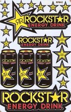 New Rockstar Energy Motocross Racing Graphic stickers/decals. 1 sheet (st72)