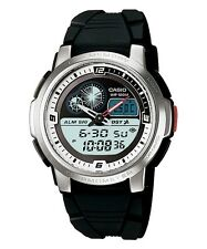 Casio AQF102W-7B Men's Resin Band Active Dial World Time Thermometer Watch