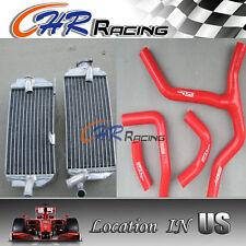 R&L aluminum radiator + HOSE FOR Honda CRF450R CRF450 CRF 450R 2013 2014 13 14