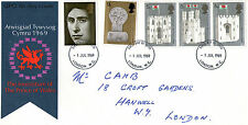 1 JULY 1969 PRINCE OF WALES INVESTITURE GPO FIRST DAY COVER LONDON WC FDI
