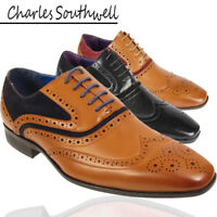 Mens Brogue Oxford Lace Up Leather Lined Formal Shoes Size UK 6 7 8 9 10 11 12