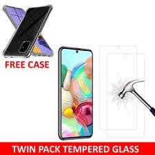 Protector de Pantalla de Vidrio Templado Y Estuche Para Samsung Galaxy A11 A21s A41 A51 A71
