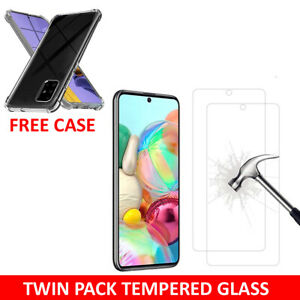 Tempered Glass Screen Protector & Case For Samsung Galaxy A11 A21s A41 A51 A71